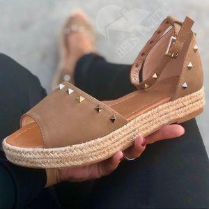 9badf60c8153 Shoes - Last 1♥ Studded Platform Espadrille Sandal